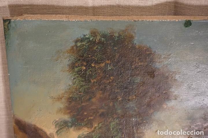 Arte: PAISAJE. ÓLEO SOBRE LIENZO. ESCUELA ESPAÑOLA. SIGLO XIX. - Foto 9 - 120665347