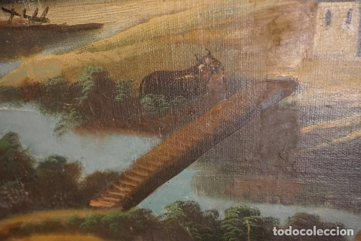 Arte: PAISAJE. ÓLEO SOBRE LIENZO. ESCUELA ESPAÑOLA. SIGLO XIX. - Foto 11 - 120665347