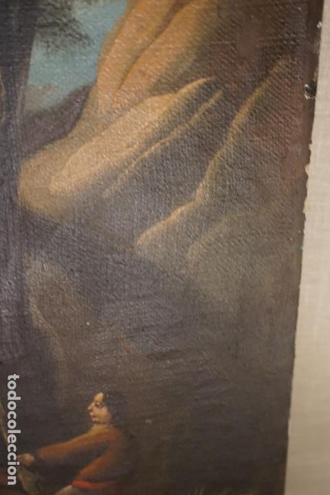 Arte: PAISAJE. ÓLEO SOBRE LIENZO. ESCUELA ESPAÑOLA. SIGLO XIX. - Foto 15 - 120665347