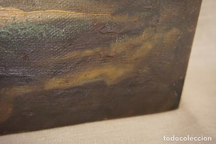 Arte: PAISAJE. ÓLEO SOBRE LIENZO. ESCUELA ESPAÑOLA. SIGLO XIX. - Foto 16 - 120665347