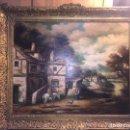 Arte: PRECIOSO OLEO SOBRE TELA GRAN TAMAÑO- MUY BUEN ESTADO- - ESCUELA EUROPEA. Lote 120724027