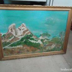 Arte: CUADRO PINTADO DEL PEDRAFORCA BERGADA SIERRA DEL CADI BARCELONA LÉRIDA FIRMADO J PINTO DE MANRESA. Lote 120755383