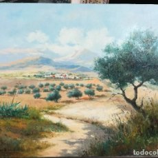Arte: CAMINO AL CAMPO DE OLIVOS POR A.SENIA. Lote 120765215