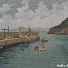 Arte: PUERTO DE CEDEIRA - PINTURA ORIGINAL FIRMADA, DE CUSA, 1987. Lote 120808071