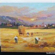 Arte: SEGADORES EN LA FAENA POR CUGAT. Lote 120822899