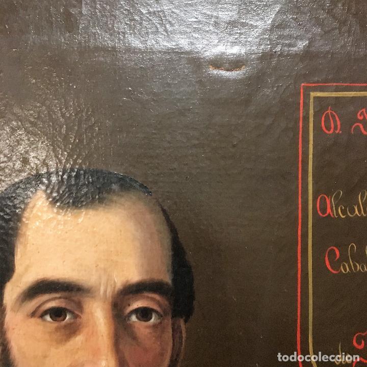 Arte: Retrato del alcalde de la Villa del Salobral (Albacete S XIX) - Foto 4 - 120856611