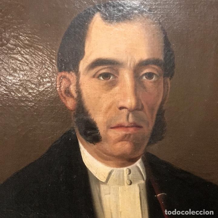 Arte: Retrato del alcalde de la Villa del Salobral (Albacete S XIX) - Foto 5 - 120856611