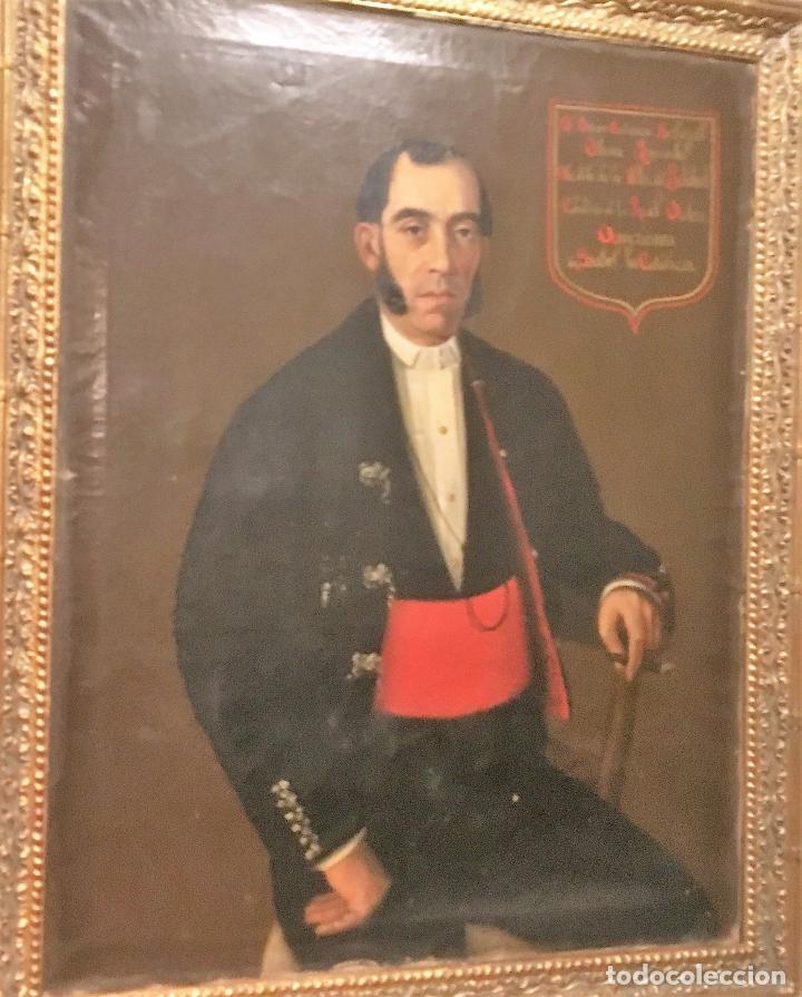 Arte: Retrato del alcalde de la Villa del Salobral (Albacete S XIX) - Foto 11 - 120856611
