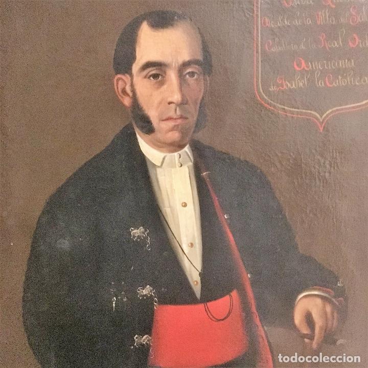 Arte: Retrato del alcalde de la Villa del Salobral (Albacete S XIX) - Foto 13 - 120856611