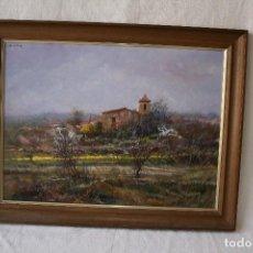 Arte: RAMÓN DE CAPMANY Y MONTANER (1899 - 1992) OLEO SOBRE TABLA. PAISAGE , 69,6 X 54,2. FIRMADO. Lote 120915527