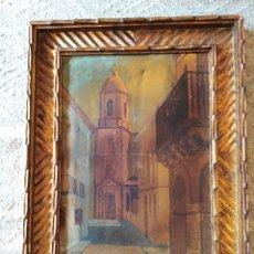 Arte: ANTIGUO ÓLEO DE BOLAÑOS. Lote 120948867