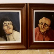 Arte: PAREJA DE OLEOS, SANTA TERESA Y CARDENAL,FIRMADOS PAL, MUY INTERESANTES,. 26X32CM. Lote 120971687