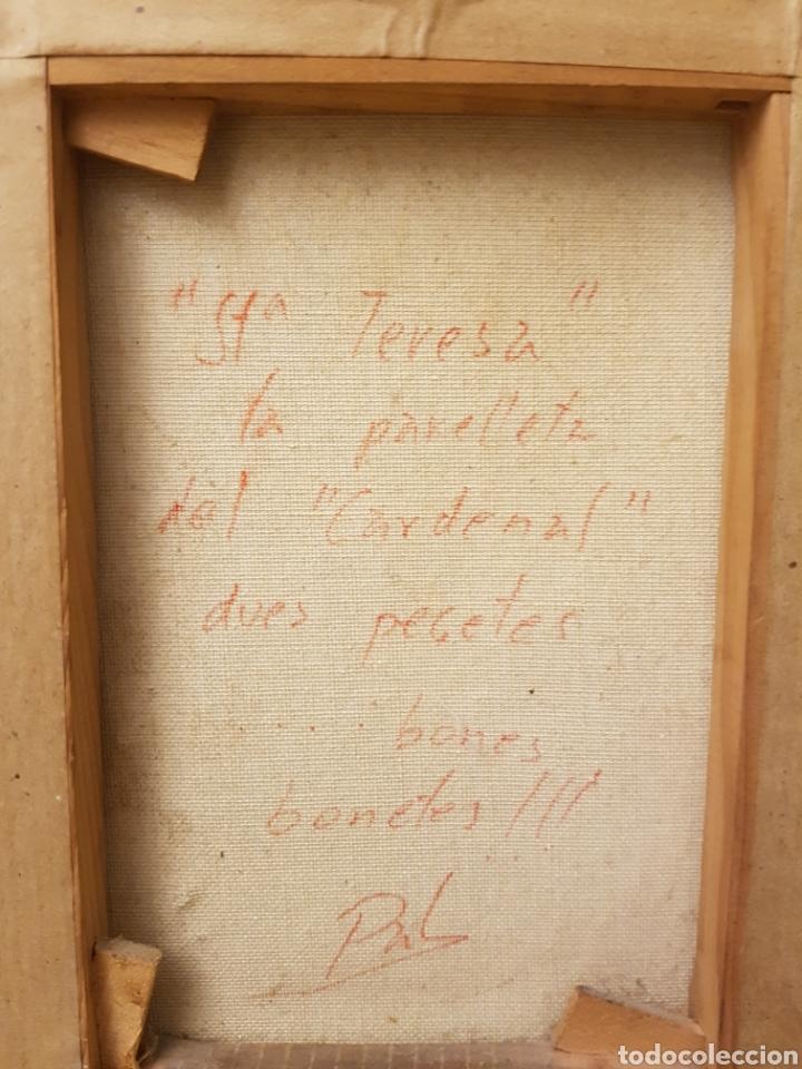 Arte: PAREJA DE OLEOS, SANTA TERESA Y CARDENAL,FIRMADOS PAL, MUY INTERESANTES,. 26X32CM - Foto 2 - 120971687