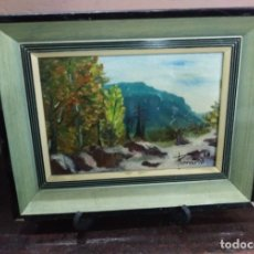 Arte: CUADRO PINTURA OLEO PAISAJE SOBRE TABLEX. Lote 121013494