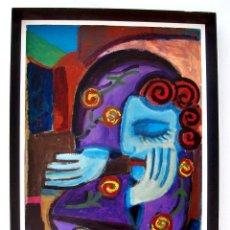 Arte: OBRA FIRMADA ANUSCA AÑO 40 PARIS TECNICA MIXTA/ O/ CARTON MEDIDAS 78 X 55 CM . Lote 121015599