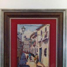 Arte: MALAGA, OLEO SOBRE MADERA DE TORRES NARVAEZ. Lote 121029319