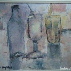 Arte: BELLO ÓLEO SOBRE LIENZA DE COCO ARGUELLES 45 X 54 CM. BODEGÓN. Lote 121056559