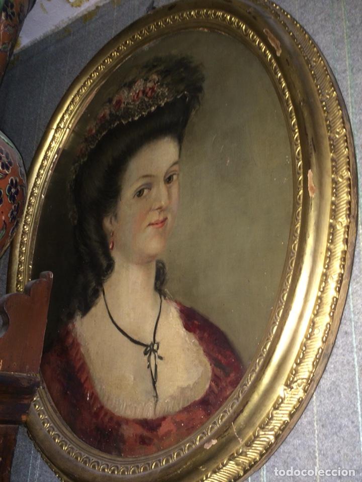 OLEO SOBRE TELA RETRATO DE MARIA ANTONIETA (Arte - Pintura - Pintura al Óleo Antigua sin fecha definida)