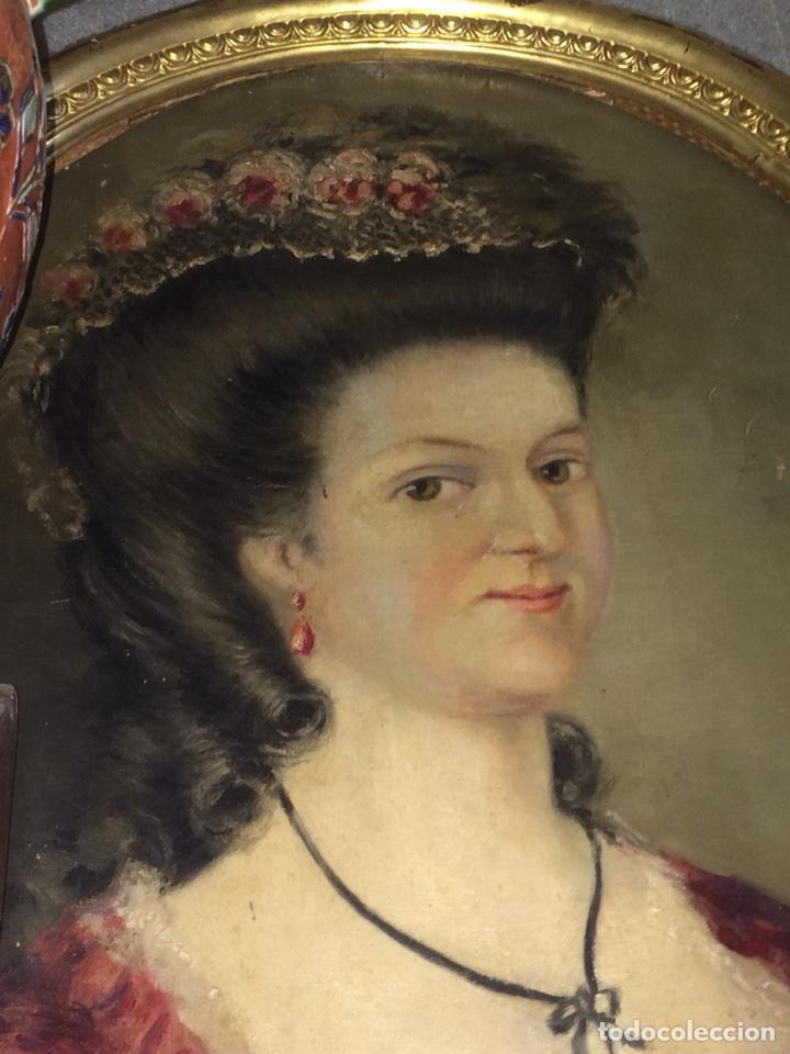 Arte: Oleo sobre tela retrato de Maria Antonieta - Foto 2 - 121139439