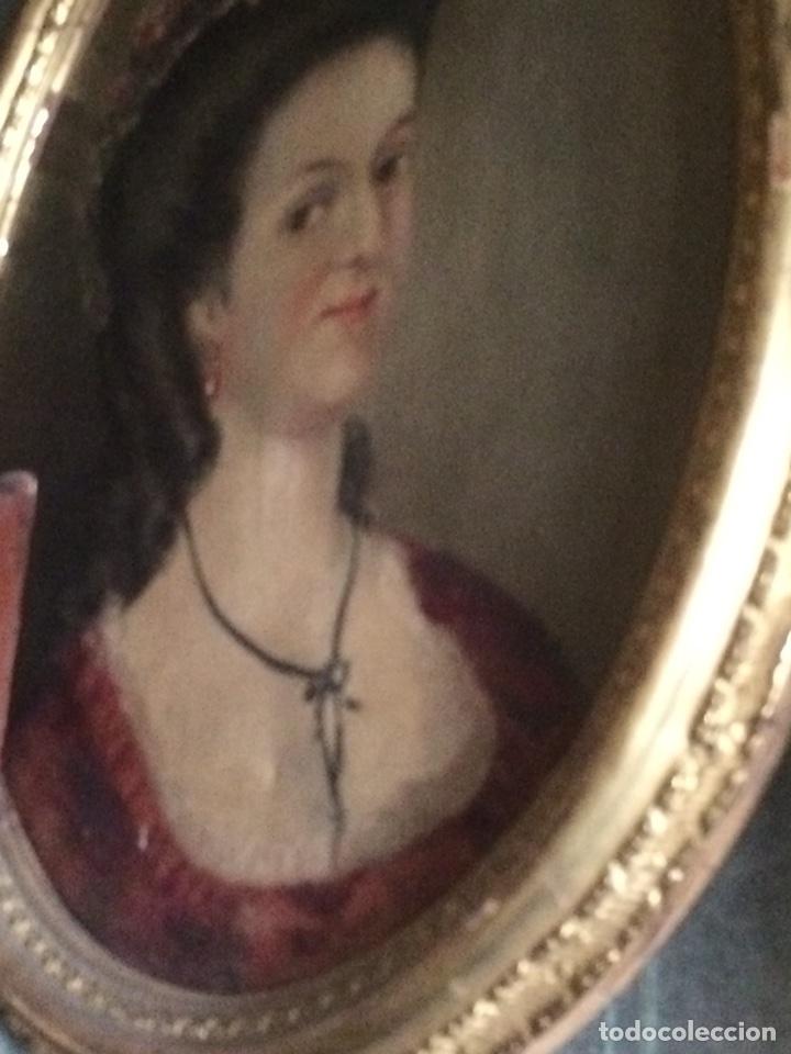 Arte: Oleo sobre tela retrato de Maria Antonieta - Foto 4 - 121139439