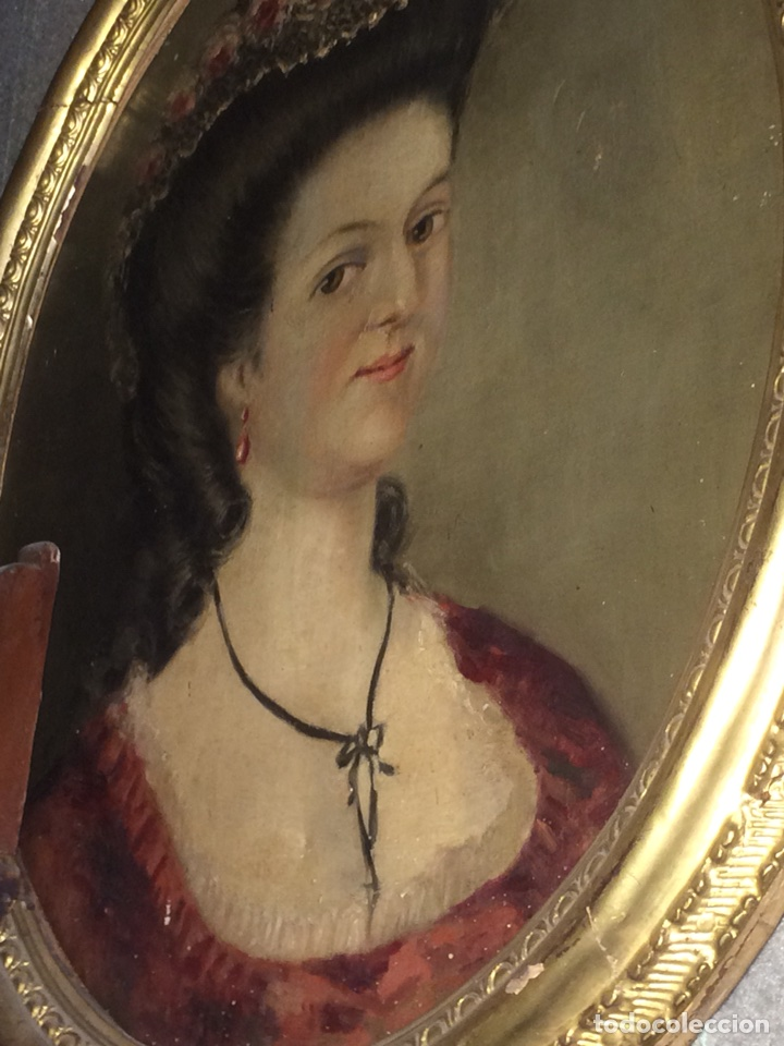 Arte: Oleo sobre tela retrato de Maria Antonieta - Foto 5 - 121139439