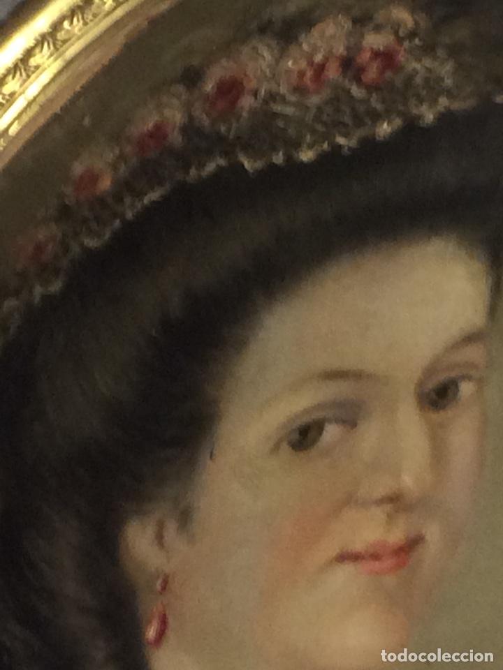 Arte: Oleo sobre tela retrato de Maria Antonieta - Foto 7 - 121139439