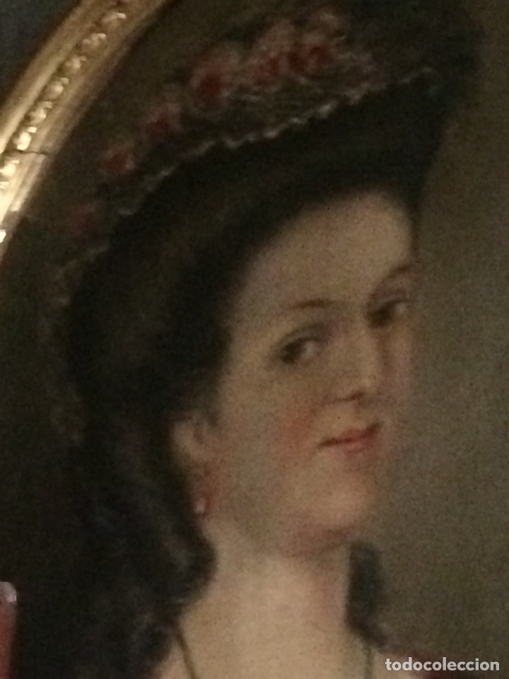 Arte: Oleo sobre tela retrato de Maria Antonieta - Foto 8 - 121139439
