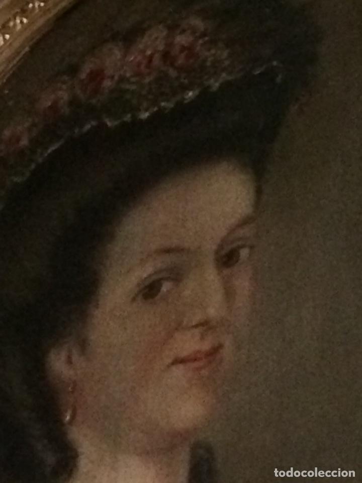 Arte: Oleo sobre tela retrato de Maria Antonieta - Foto 10 - 121139439