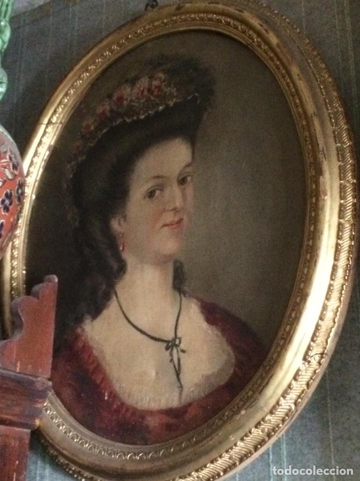 Arte: Oleo sobre tela retrato de Maria Antonieta - Foto 11 - 121139439