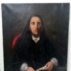 Arte: ANTIGUO RETRATO, ÓLEO SOBRE LIENZO DE SEÑORA, DAMA, ARISTÓCRATA. ÉPOCA ISABELINA. SIGLO XIX. PERFECT. Lote 121232699