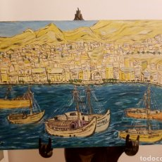 Arte: OLEO SOBRE TABLA, PUERTO MARITIMO, PUEBLO PESQUERO... BUEN TRAZO, FIRMADO STADLER. EUROPA DEL ESTE?. Lote 121287574