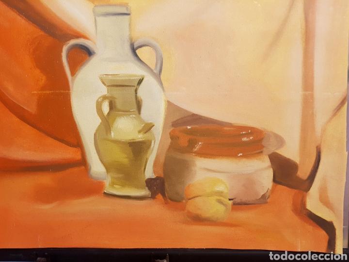 OLEO SOBRE LIENZO, BODEGÓN, 50X69CM. SIN BASTIDOR (Arte - Pintura - Pintura al Óleo Contemporánea )