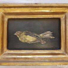 Arte: ÓLEO SOBRE TABLA DE C.F. GUIJARRO. FIRMADO 18 SEPTIEMBRE 1893. Lote 121294823