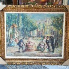 Arte: LAS MENINAS EN EL RETIRO POR ROGELIO GARCIA VAZQUEZ(1909-20109). Lote 121296899