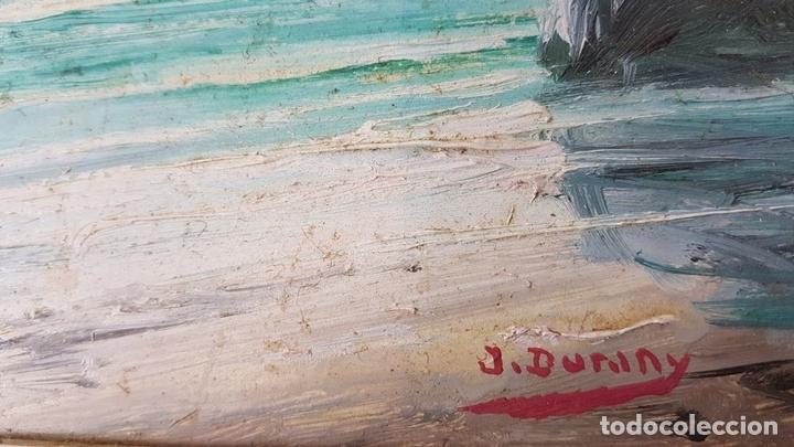 Arte: MARINA. ÓLEO SOBRE TABLA. JOAN DURANY. SIGLO XX. - Foto 5 - 121320795