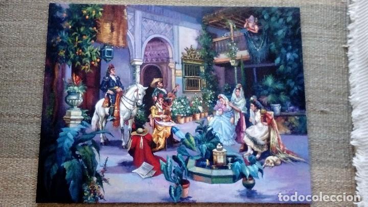 PATIO ANDALUZ. JOLOGA. LIENZO 116X89. F50. ELIGE MARCO DE REGALO. (Arte - Pintura - Pintura al Óleo Contemporánea )