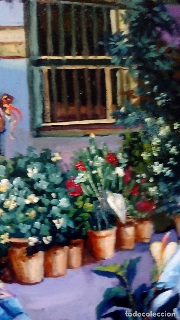 Arte: PATIO ANDALUZ. JOLOGA. LIENZO 116X89. F50. ELIGE MARCO DE REGALO. - Foto 10 - 121563075