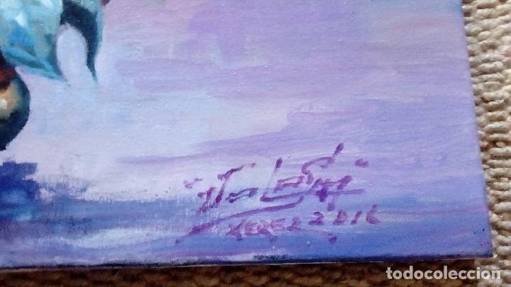 Arte: PATIO ANDALUZ. JOLOGA. LIENZO 116X89. F50. ELIGE MARCO DE REGALO. - Foto 11 - 121563075