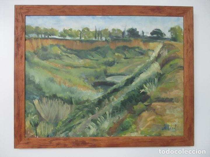 BONITA PINTURA AL ÓLEO - IMPRESIONISTA - PAISAJE - CON FIRMA - MARCO DE MADERA (Arte - Pintura - Pintura al Óleo Moderna sin fecha definida)