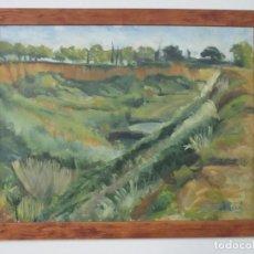 Arte: BONITA PINTURA AL ÓLEO - IMPRESIONISTA - PAISAJE - CON FIRMA - MARCO DE MADERA. Lote 121573059