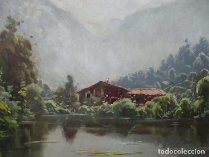 Arte: Oleó sobre Tela - Paisaje - Firma J. Fares - Enmarcado - Foto 6 - 121579435