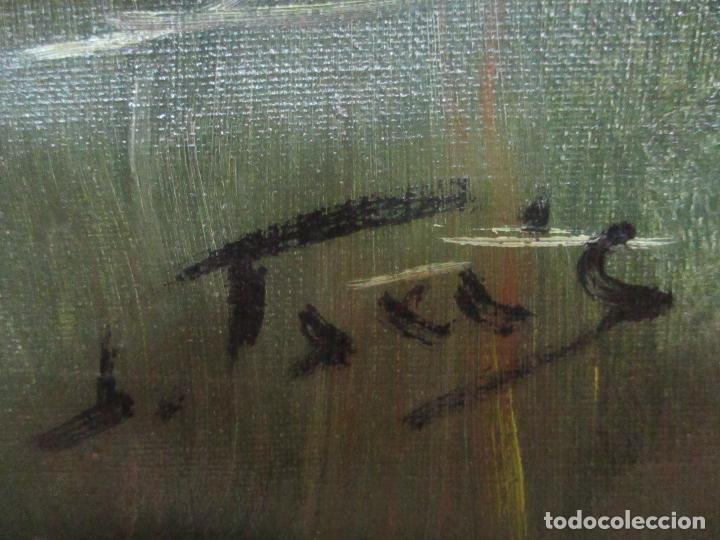 Arte: Oleó sobre Tela - Paisaje - Firma J. Fares - Enmarcado - Foto 7 - 121579435