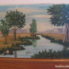 Arte: AÑOS 50-60 OLEO SOBRE LIENZO FIRMADO J. ALISAL PAISAJE ESCALETA 55X33 CM SIN MARCO VINTAGE RETRO. Lote 121768131