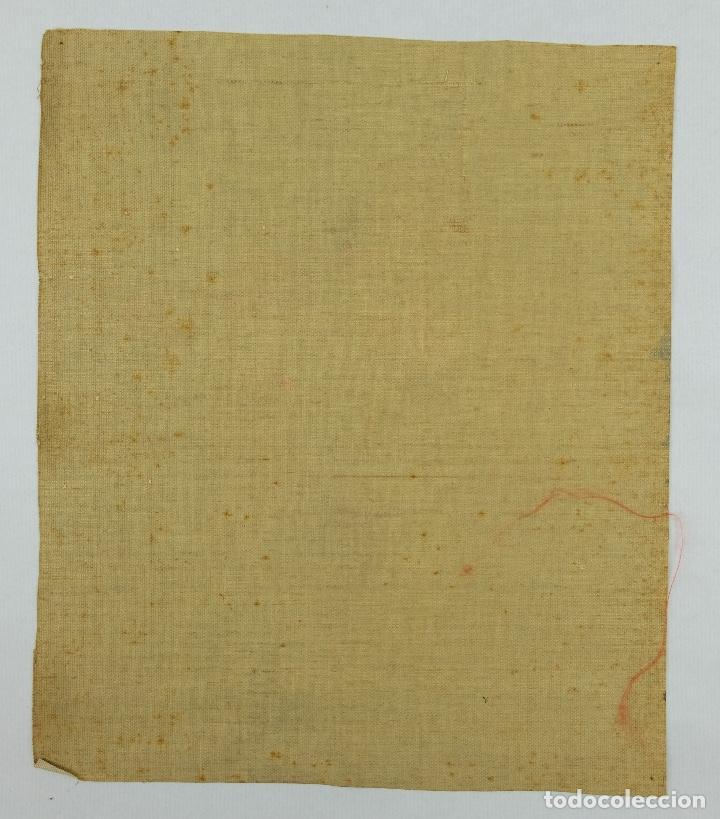 Arte: Óleo sobre lienzo Jarrón con rosas mediados siglo XX - Foto 11 - 122006283