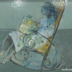 Arte: INTIMIDAD GUTIERREZ MONTIEL ÓLEO TABLA AÑO 76. Lote 122024871