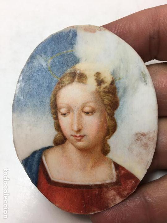 Arte: Miniatura de dama, gouache, marco de plata, años 30. 10x7cm - Foto 4 - 122089907