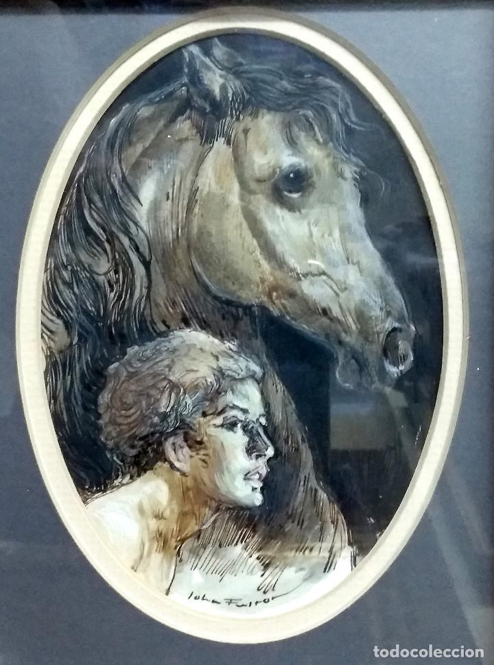 cuadro de john fulton enmarcado, niño y caballo - Comprar Pintura al ...