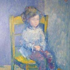 Arte: XAIME QUESSADA (ORENSE 1937-2007). NENA SENTADA.. Lote 122172367