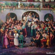 Arte: JOLOGA. LIENZO 116X89. F50. ELIGE MARCO DE REGALO. BODA GITANA.. Lote 122271323