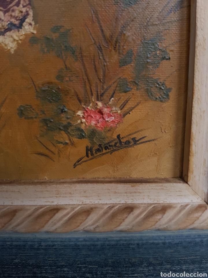 Arte: oleo sobre lienzo, mujer vestido tradicional, firmado y enmarcado, 34x39cm - Foto 2 - 122276202